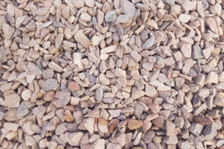 Crushed Red River Pebble